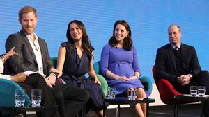 Prinz Harry, Meghan Markle, Herzogin Kate und Prinz William