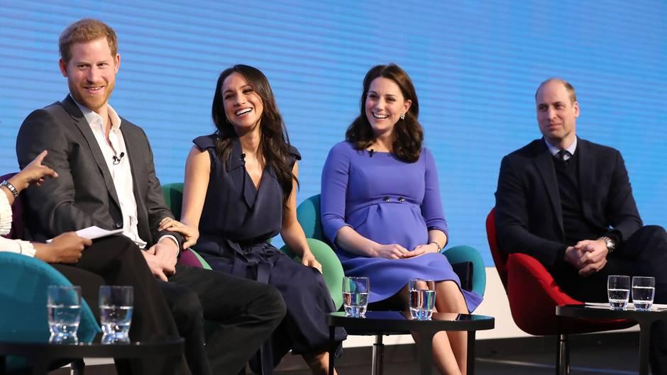 Prinz Harry, Meghan Markle, Herzogin Kate und Prinz William