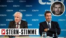 Horst Seehofer (l.) und Markus Söder bei einer gemeinsamen Pressekonferenznach der CSU-Vorstandssitzung