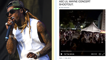 Rapper Lil Wayne und ein Video der Massenpanik