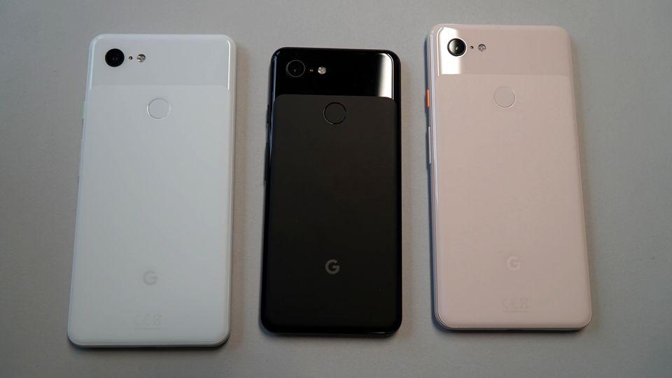 Alle drei Farben der neuen Pixel-Phones