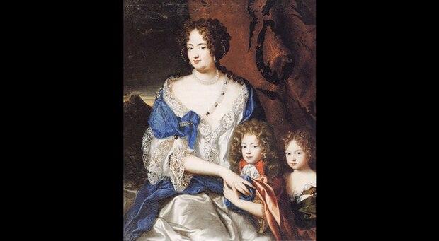 Sophie Dorothea mit ihren Kindern, Georg August und Sophie Dorothea junior