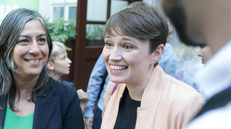 Sigi Maurer (r.) im Rahmen der Wahlkampfauftakt-Veranstaltung der Grünen imSeptember 2017in Wien
