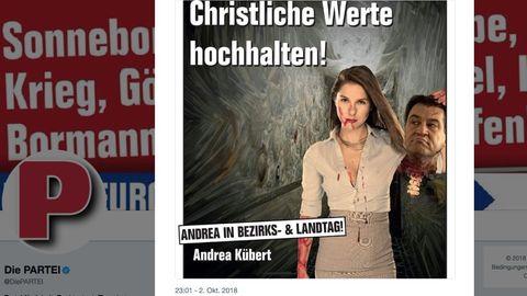 """Umstrittenes Wahlplakat der Satirepartei """"Die PARTEI"""""""