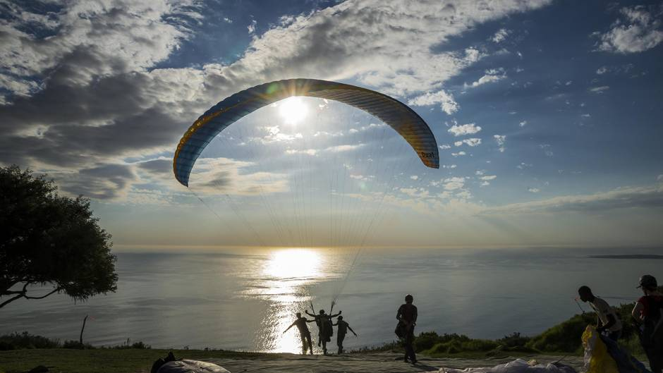 Paragliding in Kapstadt am Signal Hill
