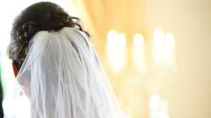 Foto einer Braut (von hinten)