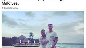 Flitterwochen: Gina Lyons mit ihrem Ehemann