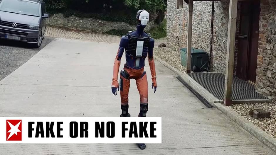 """""""Fake or No Fake"""": Humanoid läuft plötzlich durch Einfahrt: Warum dieses Video so irritiert"""