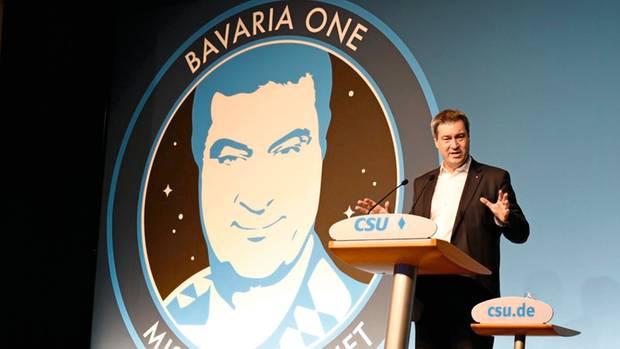 Mission Mond: Zwei Wochen vor der Landtagswahl präsentiert Söder ein 700 Millionen Euro teures bajuwarisches Raumfahrt-Programm