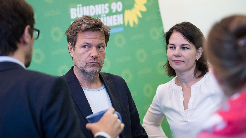 Die Grünen-Vorsitzenden Robert Habeck und Annelena Baerbock