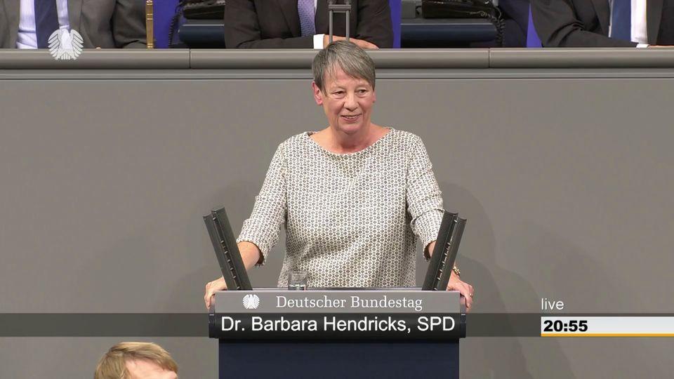 Barbara Hendricks: Antrag gegen Ehe für alle: SPD-Abgeordnete bietet AfD rigoros Paroli