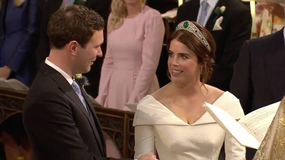 """""""Ja, ich will"""": Prinzessin Eugenie und Jack Brooksbank: Hier sehen Sie den schönsten Moment der Trauung"""