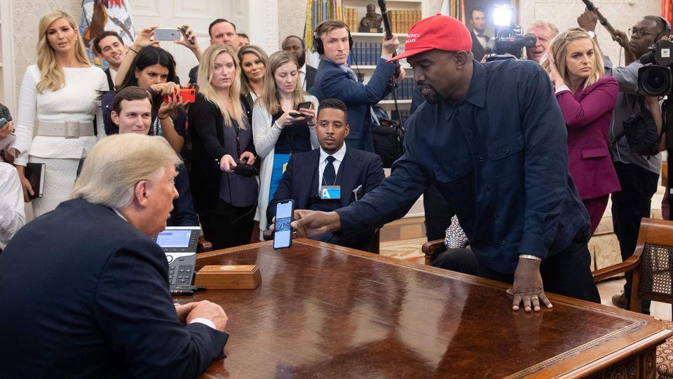 Kanye West und Donald Trump