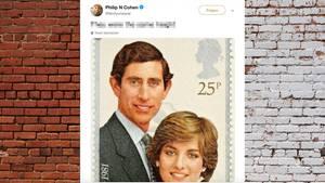 Diana und Charles auf einer Briefmarke