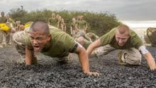 US-Rekruten für den Marine Corps bei einer Übung im Oktober 2018