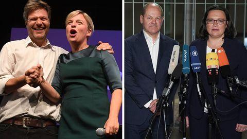Die Grünen feiern, die SPD verkündet schwere Botschaften