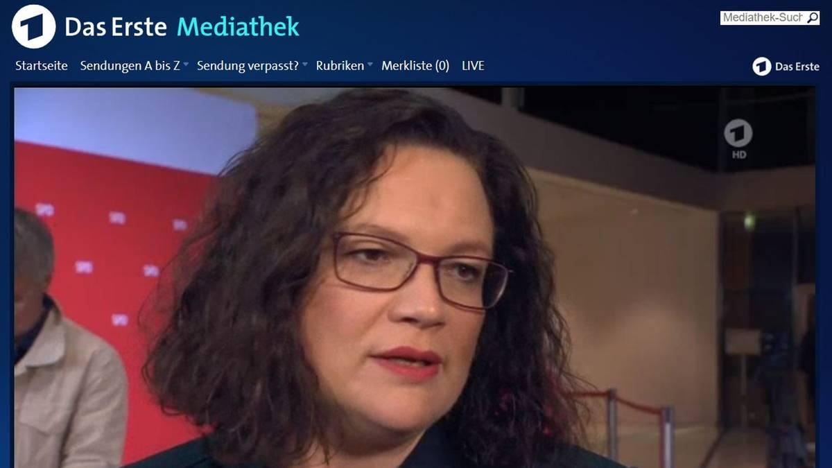 Andrea Nahles Darum Fluchtete Die Spd Chefin Aus Dem Ard