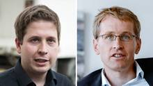 Nach der Wahl in Bayern: Kevin Kühnert (SPD) und Daniel Günther (CDU) kritisieren die Große Koalition in Berlin