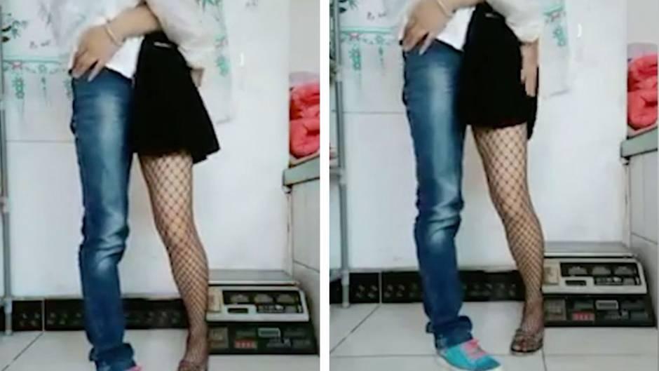 Illusion: Das hier ist kein schmusendes Pärchen - Video verwirrt acht Millionen User in China