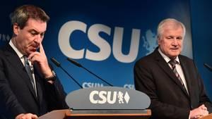 CSU: Horst Seehofer Markus Söder