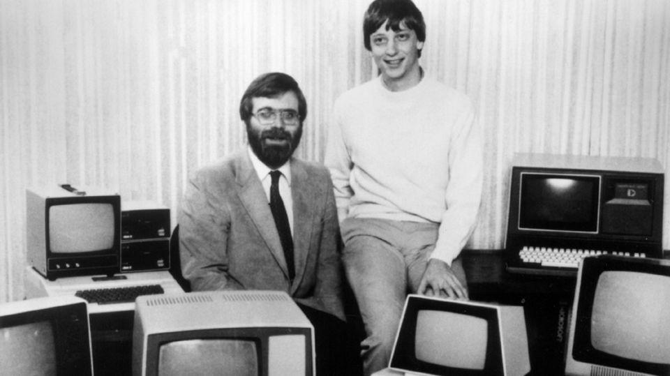 Microsoft-Gründer Paul Allen und Bill Gates