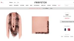 Fendi Schal rosa mit Fell