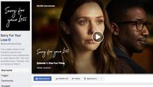 "Startseite der Serie ""Sorry For Your Loss"" auf Facebook"