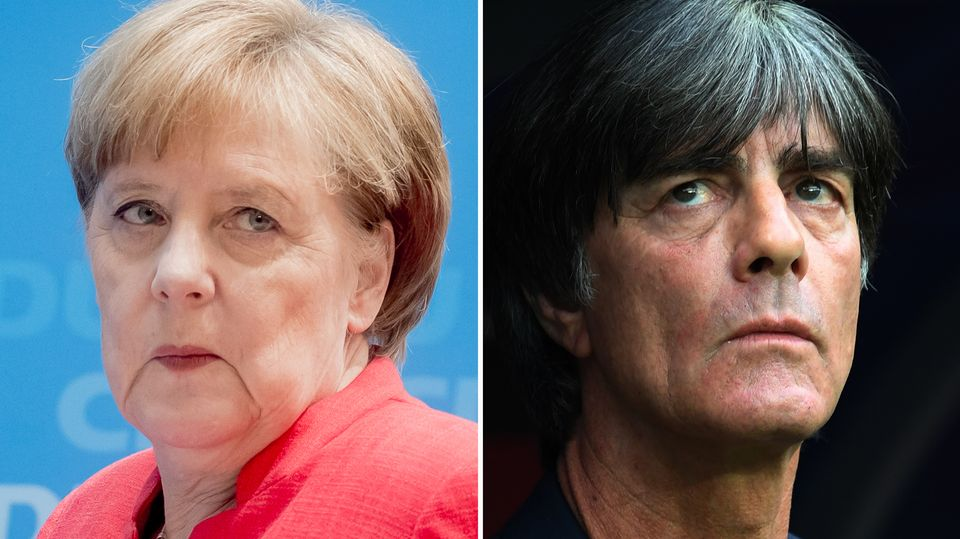 Angela Merkel und Joachim Löw