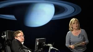 Eine Bühne für Vater und Tochter: Stephen und Lucy Hawking bei einem gemeinsamen Vortrag im April 2008