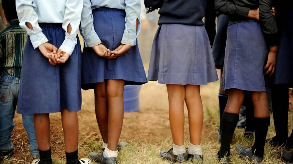 Mädchen in Südafrika