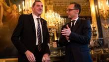 Daniel Nivel mit Heiko Maas in der Residenz des deutschen Botschafters in Paris