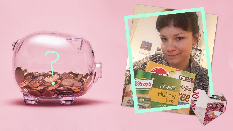 Unsere Redakteurin versucht einen Monat lang zu sparen - mit Tütensuppe und Kartoffelpüree