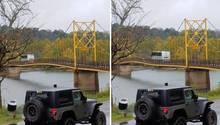 Brücke beugt sich gefährlich unter Gewicht von Reisebus