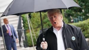 US-Präsident Donald Trump am vergangenen Montag beim Verlassen des Weißen Hauses in Washington