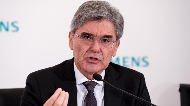 Joe Kaeser, Vorstandsvorsitzender der Siemens AG,während einer Pressekonferenz