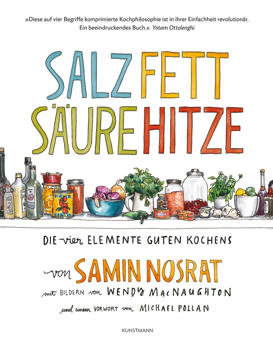 """Mehr zu den vier Elementen guten Kochens finden Sie in Samin Nosrats erschienenen Buch im Kunstmann-Verlag (492 Seiten, 36 Euro). Aktuell läuft auch """"Salz, Fett, Säure, Hitze"""" als Vierteiler auf Netflix."""