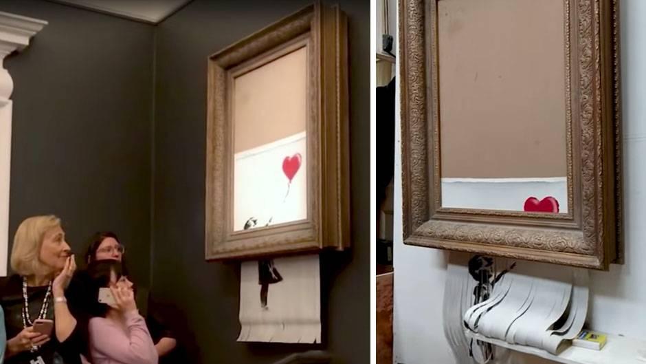 """""""The Girl and the Balloon"""": """"In den Proben hat es immer geklappt"""" - Banksy erklärt Schredder-Aktion für gescheitert"""