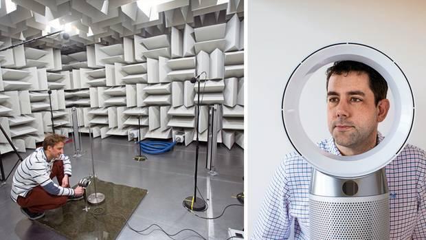 Im Labor wird die Lautstärke gemessen, die Produkte sollen leise und zudem ansehnlich sein