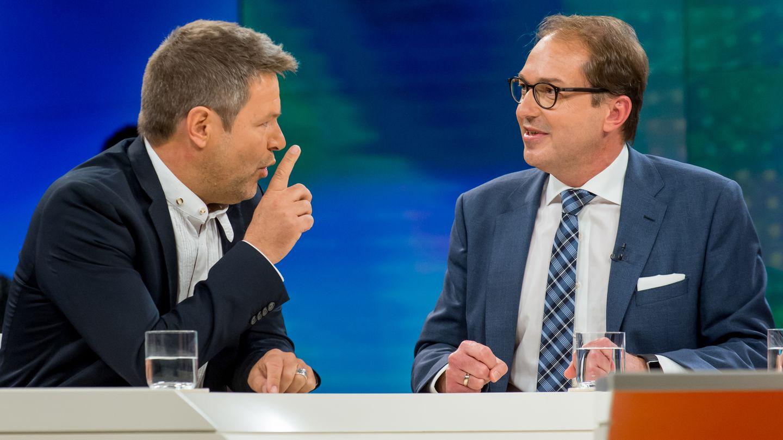 Robert Habeck und Alexander Dobrindt bei Maybrit Illner im ZDF