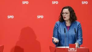 SPD-Vorsitzende Andrea Nahles führt eine Partei, deren Umfragewerte massiv schrumpfen