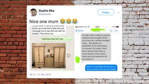 Kleinanzeigen: Mutter übersieht ein Detail in ihrem Schrank-Foto