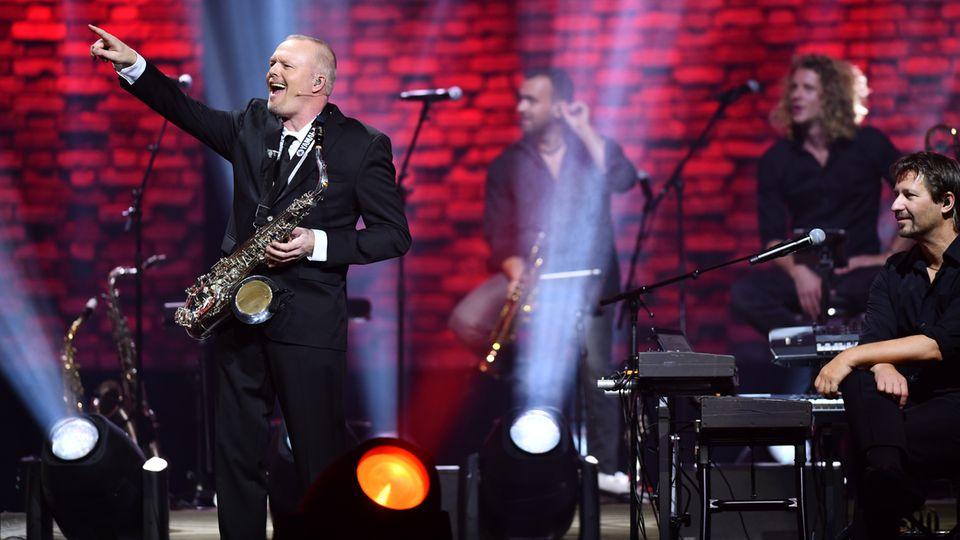 Stefan Raab bei seinem Live-Comeback in der Kölner Lanxess-Arena