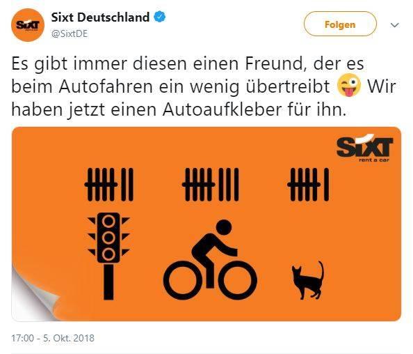 Sixt-Werbung