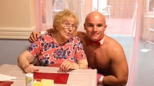 Die Bewohnerinnen des Seniorenheims hatten sichtlich Spaß