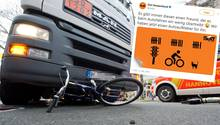 Ein Fahrradunfall, Sixt-Werbung