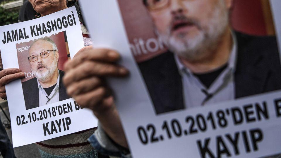 Protest gegen Jamal-Khashoggi-Verschwinden