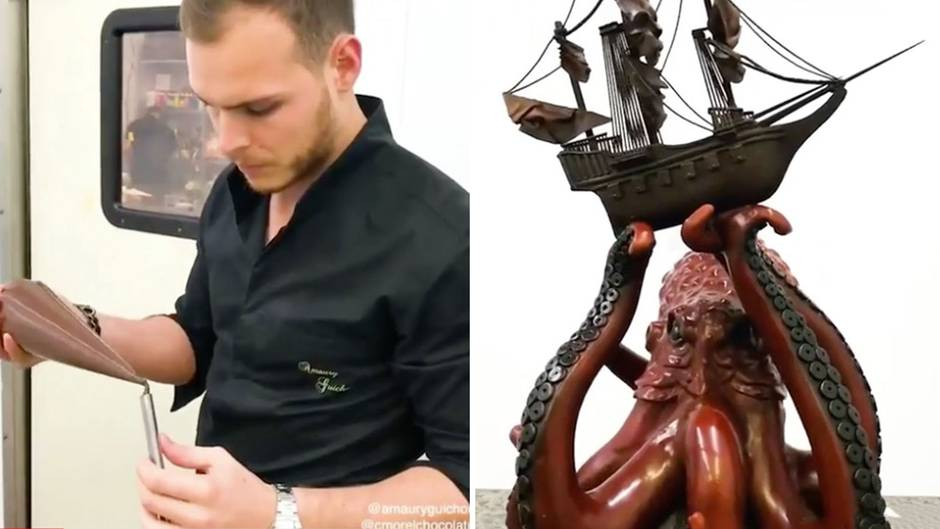 Süße Versuchung: Unglaublich: Dieser Konditormeister baut ein Kunstwerk aus Schokolade