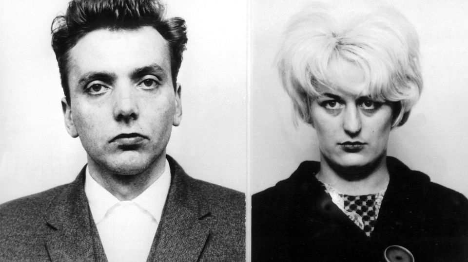 Die Polizeifotos vonIan Brady und Myra Hindley.