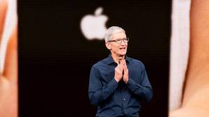 Apple-Chef Tim Cook bei der iPhone-Keynote im September