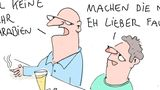 Cartoons von Tobias Schülert: Klimawandel - So schlecht geht es Frau Holle